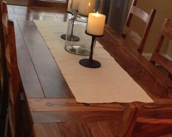 Custom table runner - ivory table runner - burlap bleached tabke runner - rustic table runner - made to order runner