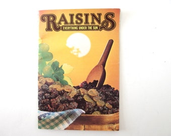 Vintage 1970's Raisins Cookbook