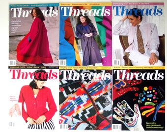 Vintage 1993 Threads Magazine, No. 45 to 50 with Index