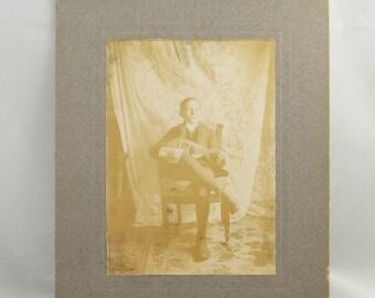 Instant Ancestor Victorian Photo Mounted on Cardboard tws