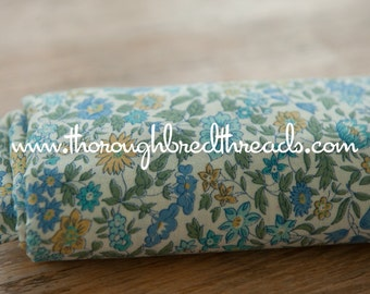 Pretty Blooms- Vintage Fabric 60s 70s New Old Stock Wildflower Garden