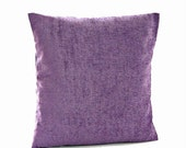 accent cushion cover, violet purple decorative pillow cover 16 inch