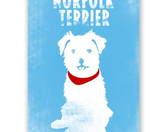 Norfolk terrier Dog Art - Wall art, dog print, Dog breed, Norfolk terrier