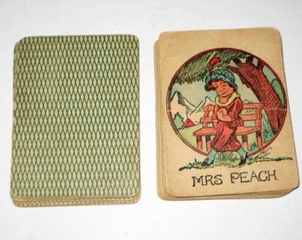 Early Snap  or Old Maid Card Game for Altered Art, Collecting, Scrapbooking, etc.