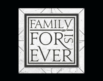 """Family Decal MEDIUM """"Family Is Forever"""" Wall Decal Tile Decal Vinyl Lettering Quote Sticker"""