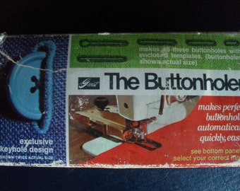 Griest Sewing Machine ButtonHoler Attachment with manual