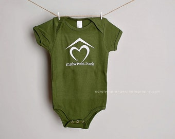 Midwives Rock one-piece or tee (Pick Your Color & Size)