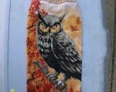 Owl Crochet Top Hanging Towel