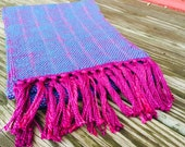 Handwoven Scarf Cast in Blue