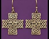 Celtic- St. John Cross- Earrings- Bronze