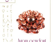 pendant tutorial / pattern Avram pendant with Dome beads...PDF instruction for personal use only