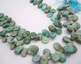 Turquoise Beads, Turquoise Briolettes, Blue turquoise Beads, Turquoise, SKU 4440A