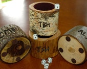 Wedding party gifts - personalized dice cups
