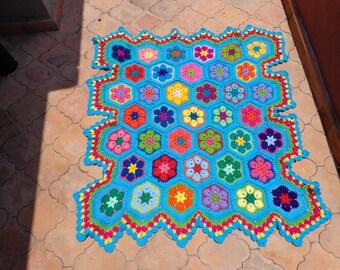 African flower baby blanket