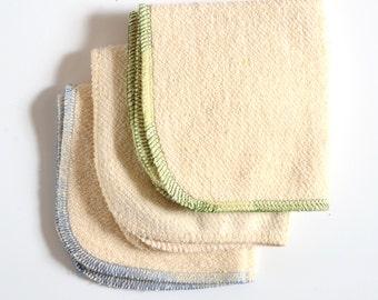 Washcloth set 9 x 9 inches Hemp and Organic Cotton French Terry set of 8 by Aquarian Bath - Go green - ecofriendly - set of 8