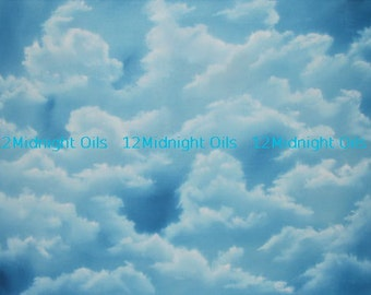 The Sky's No Limit! Clouds Original Oil Painting titled by Cindi Rae Thayn