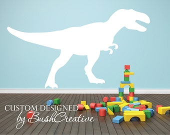 T-rex Dinosaur Wall Decal Boys Room Decal Dinosaur Nursery Vinyl Wall Decal Boys Bedroom Wall Decor Girls Wall Sticker Removable 051