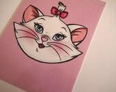 Illustrated Marie Cat Aristocats Postcard