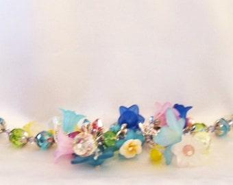 Summer Bright Colorful Lampwork Beaded Bracelet