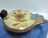 Vintage Ancient 430 BC Attic Lychnos Aladdin Lamp Greece Greek Museum Copy Signed P. Vaglis Tag Amphora