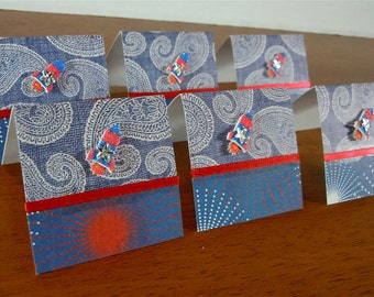 Fireworks, Rockets, and Paisley Mini Cards 2x2 (6)