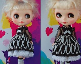 Blythe punk dress set