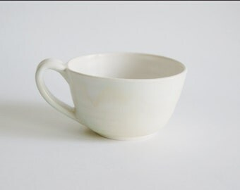 Handmade Ceramic Mug - Ceramic Mug in Turquoise, Rust and Cream - Handmade Porcelain Cup