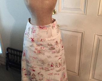 Adorable Vintage Easter Print Skirt