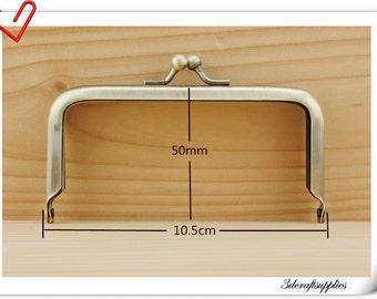 4 inch  x 2 inch Purse frame   Metal purse frame supply Anti bronze  A52