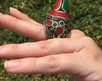 FREE SHIPPING afghan turkmen tribal kuchi bohemian ring