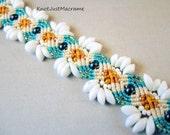 Daisy Micro Macrame Bracelet Summer Flowers Floral