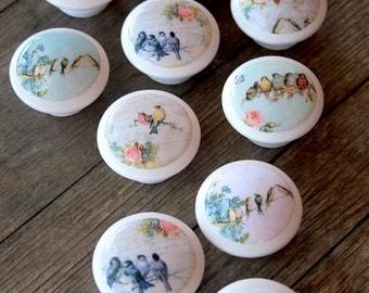 Vintage Knobs Birds to Sing to Me 2 pc set
