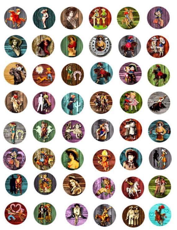 vintage Cowgirls rope frames clip art by DigitalGraphicsShop