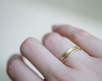 stacking rings, delicate, thin rings, simple rings, hammered