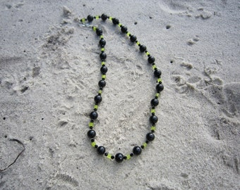 Black and Lime Necklace