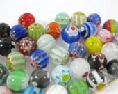 50 Flower Millefiori Round Beads 8mm (B)