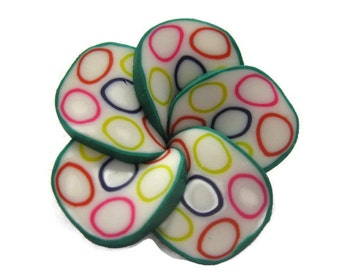 34mm Polymer Clay Flowers Beads Set of 3