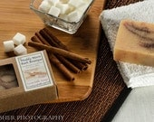 Homemade Goat Milk Soap, Cinnamon Soap, Exfoliating Soap with a Warm, Spicy Sweet Fragrance.