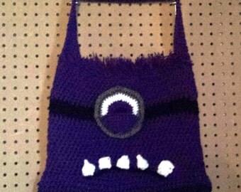 Purple Evil Minion Tote Bag