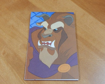 Up cycled Note Pad Disney Beauty and the Beast