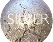 Silver Mineral Eyeshadow • Vegan And  Gluten Free Mineral Makeup • Earth Mineral Cosmetics