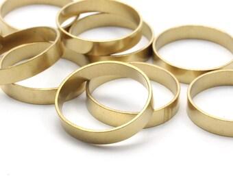 Smooth Brass Ring - 24 Raw Brass Ring Settings (20mm) R012
