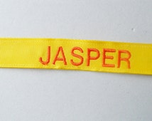 Personalized Solid Color Dog or Puppy Collar - Classic Style/Girl dog/Boy dog/Solid Color Ribbon and Webbing