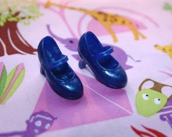 Blythe Deep Blue Heeled Mary Jane shoes