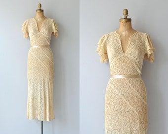 Abermarle wedding gown | 1930s wedding dress • vintage 30s lace wedding dress