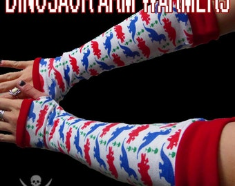 Triceratops and T-Rex Dinosaur Arm Warmers