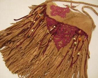 Southwestern Desert Fringe Cross Body Bag