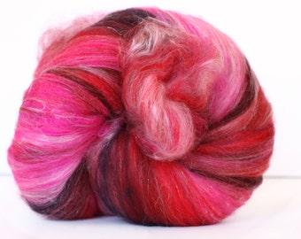 Crazy Flamingo 3.2 oz  Wool - Merino- Art Batt // Wool Art Batt for spinning or needle felting