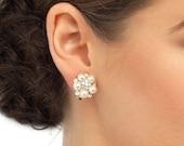 Pearl wedding stud earrings 1950s style antique pearl wedding bridal pearl stud earrings wedding jewellery
