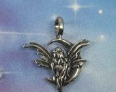 Gothic Moon Fairy Amulet genuine pewter casting pendant charm lead safe